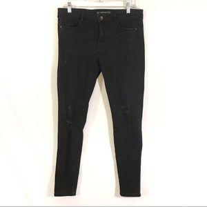 Zara Trafaluc Denimwear Black Distressed Jeans